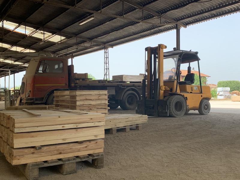 struttura imballaggi in legno